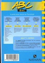 Maths S Methode Vol.1 - 4ème de couverture - Format classique