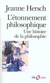 L'étonnement philosophique ; une histoire de la philosophie - Intérieur - Format classique