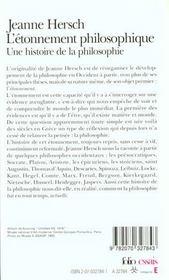 L'étonnement philosophique ; une histoire de la philosophie - 4ème de couverture - Format classique