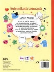 Autocollants amusants ; animaux mignons - 4ème de couverture - Format classique
