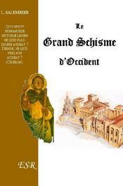 Le Grand Schisme D'Occident - Couverture - Format classique