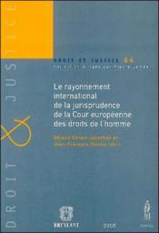 Le rayonnement international de la jurisprudence de la Cour européenne des droits de l'homme - Couverture - Format classique