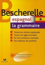 Bescherelle espagnol ; la grammaire - Intérieur - Format classique