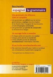 Bescherelle espagnol ; la grammaire - 4ème de couverture - Format classique