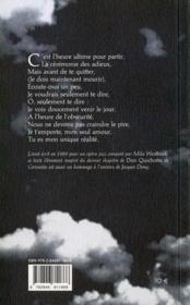Quichotte - 4ème de couverture - Format classique