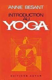 Introduction au yoga - Couverture - Format classique