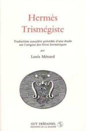 Hermes Trismegiste - Couverture - Format classique