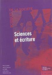 Sciences et ecritures - Intérieur - Format classique