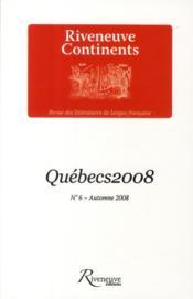 Québecs t.6 - Couverture - Format classique
