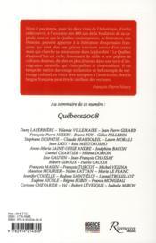 Québecs t.6 - 4ème de couverture - Format classique
