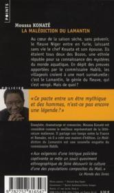 La malédiction du lamantin ; enquête sur les rives du Niger - 4ème de couverture - Format classique