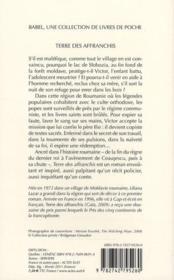 Terre des affranchis - 4ème de couverture - Format classique