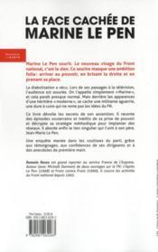 La face cachée de Marine Le Pen - 4ème de couverture - Format classique
