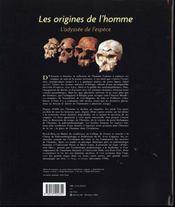 Les Origines De L Homme L Odyssee De L Espece - 4ème de couverture - Format classique