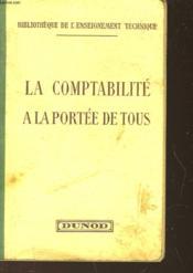 La Comptabilite A La Portee De Tous - Couverture - Format classique