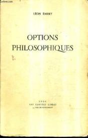 Options Philosophiques. - Couverture - Format classique