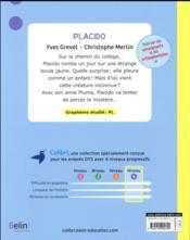 Placido ; niveau 4 - 4ème de couverture - Format classique