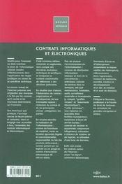 Contrats Informatiques Et Electroniques - 4ème de couverture - Format classique