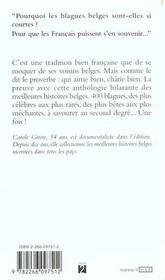 Histoires belges. le livre qui donne la frite - 4ème de couverture - Format classique