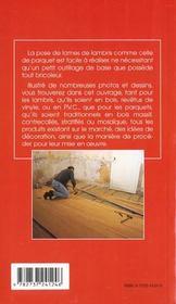 Les lambris et parquets - 4ème de couverture - Format classique
