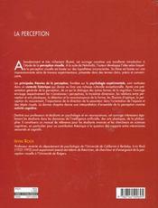Perception (la) - 4ème de couverture - Format classique