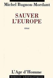 Sauver L'Europe - Couverture - Format classique