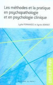 Les méthodes et la pratique en psychopathologie et en psychologie clinique - Intérieur - Format classique