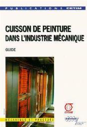 Cuisson de peinture dans l'industrie - Couverture - Format classique