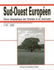Varia. revue sud ouest europeen n 20 - Couverture - Format classique