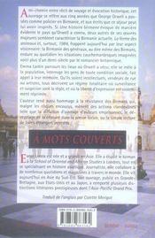 À mots couverts ; en Birmanie sur les traces de G. Orwell - 4ème de couverture - Format classique