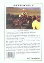 Mongolie (Guide) - 4ème de couverture - Format classique