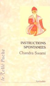 Instructions spontanees - Couverture - Format classique