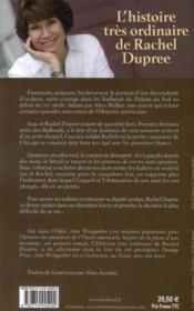 L'histoire très ordinaire de Rachel Dupree - 4ème de couverture - Format classique