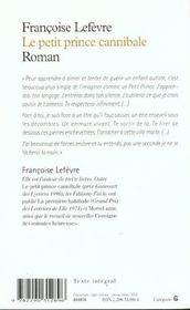 Petit prince cannibale (le) - 4ème de couverture - Format classique