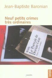 Neuf Petits Crimes Tres Ordinaires - Intérieur - Format classique