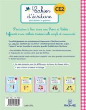 Rémi et Colette, méthode traditionnelle ; cahier d'écriture ; pour droitiers et gauchers ; cycle 2 ; CE2 (8-9 ans) - 4ème de couverture - Format classique