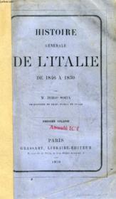 Histoire Generale De L'Italie De 1846 A 1850, Vol. I - Couverture - Format classique