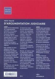 Petit Traite D'Argumentation Judiciaire - Couverture - Format classique