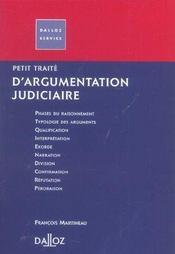 Petit Traite D'Argumentation Judiciaire - Intérieur - Format classique