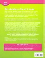 Sketches à lire et à jouer (édition 2002) - 4ème de couverture - Format classique