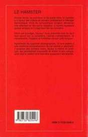 Le Hamster - 4ème de couverture - Format classique