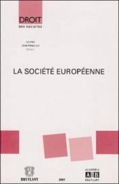 La societe europeenne - Couverture - Format classique