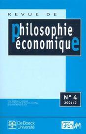 Revue De Philosophie Economique N.4 - Intérieur - Format classique