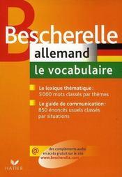 Bescherelle allemand ; le vocabulaire - Intérieur - Format classique