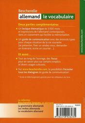 Bescherelle allemand ; le vocabulaire - 4ème de couverture - Format classique
