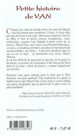 Petite Histoire De Van - 4ème de couverture - Format classique