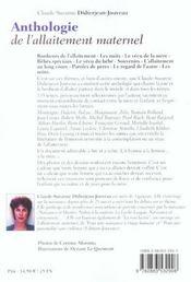Anthologie de l'allaitement maternel n.164 - 4ème de couverture - Format classique