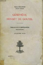 Geneviève Hennet de Goutel. - Couverture - Format classique
