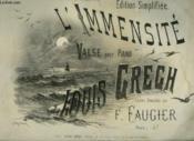 L'Immensite - Valse Pour Piano. - Couverture - Format classique