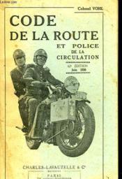 Code De La Route Et Police De La Circulation - Couverture - Format classique